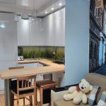кухня 9 кв метров с диваном дизайн фото