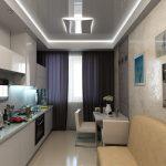 кухня 9 кв метров с диваном фото дизайн