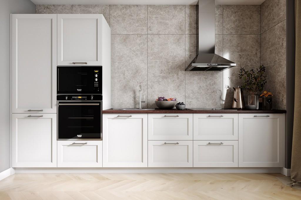 кухня без верхних шкафов оформление