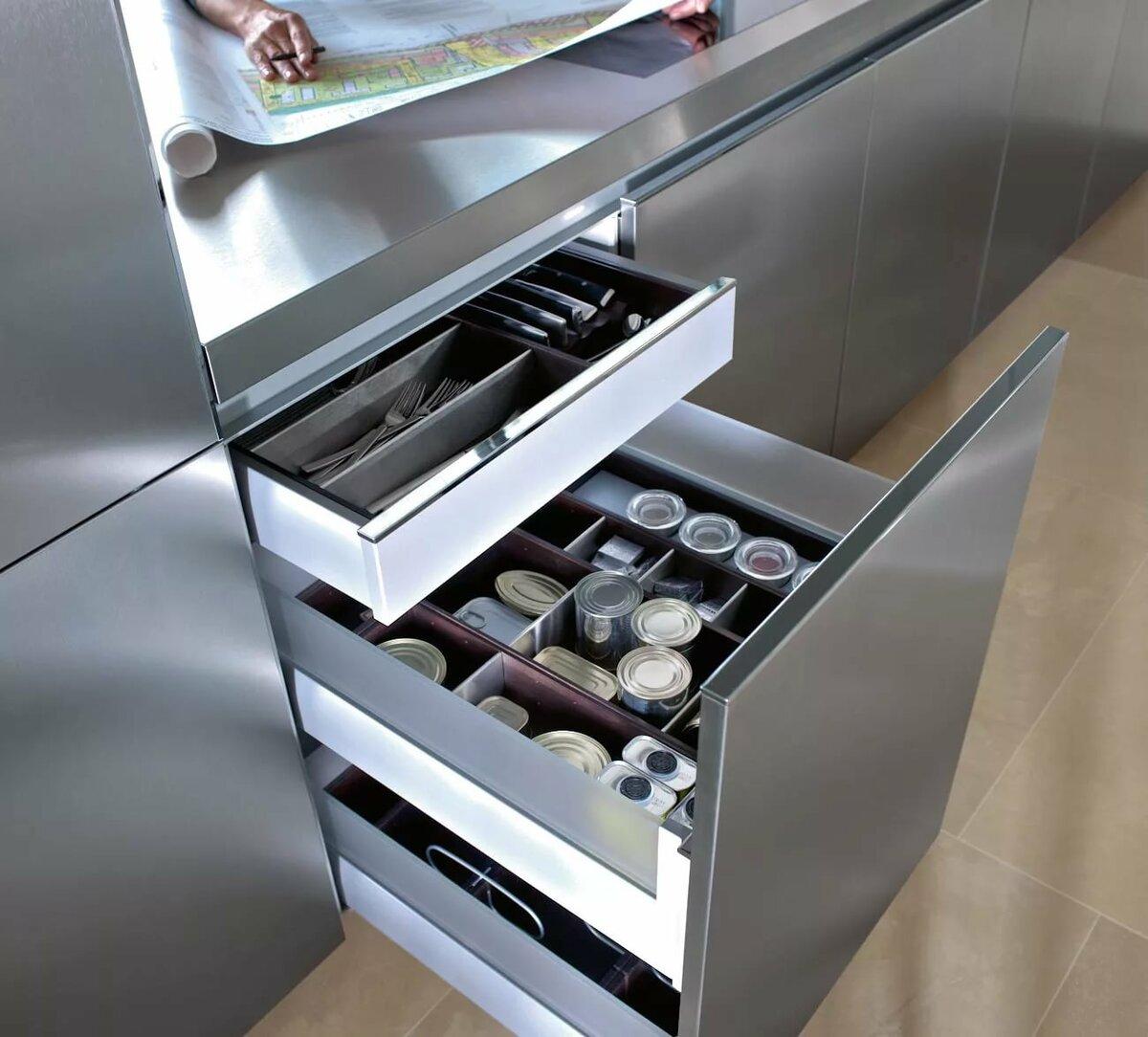 размеры кухонных ящиков
