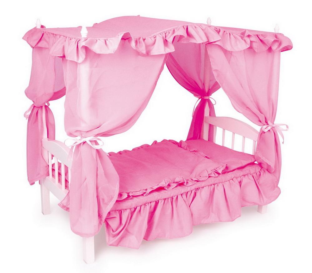 кукольная кровать с балдахином