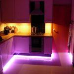 подсветка гарнитура на кухне идеи дизайн