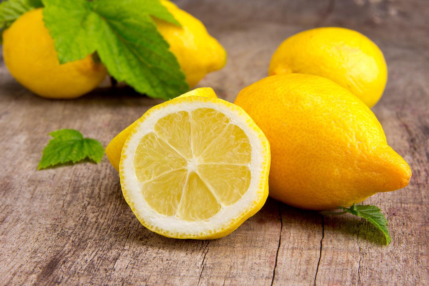 лимон для удаления пятен