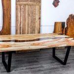 мебель из дерева большой стол