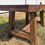 мебель из дерева стол на улице