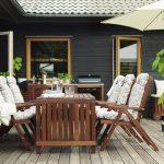 мебель из дерева с креслами