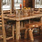 мебель из дерева из бревен