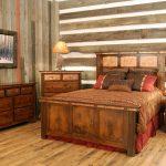 мебель из дерева темная кровать