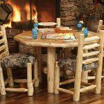 мебель из дерева круглый стол