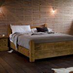 мебель из дерева кровать лофт
