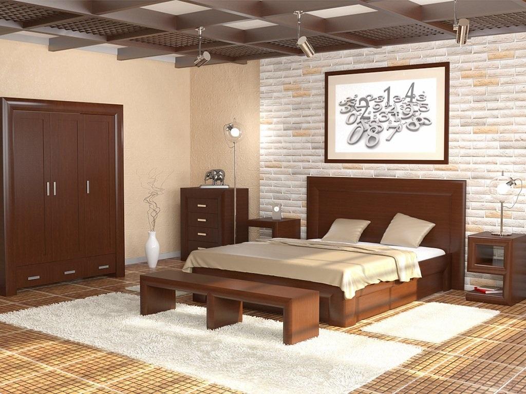 дизайн с деревянной мебелью