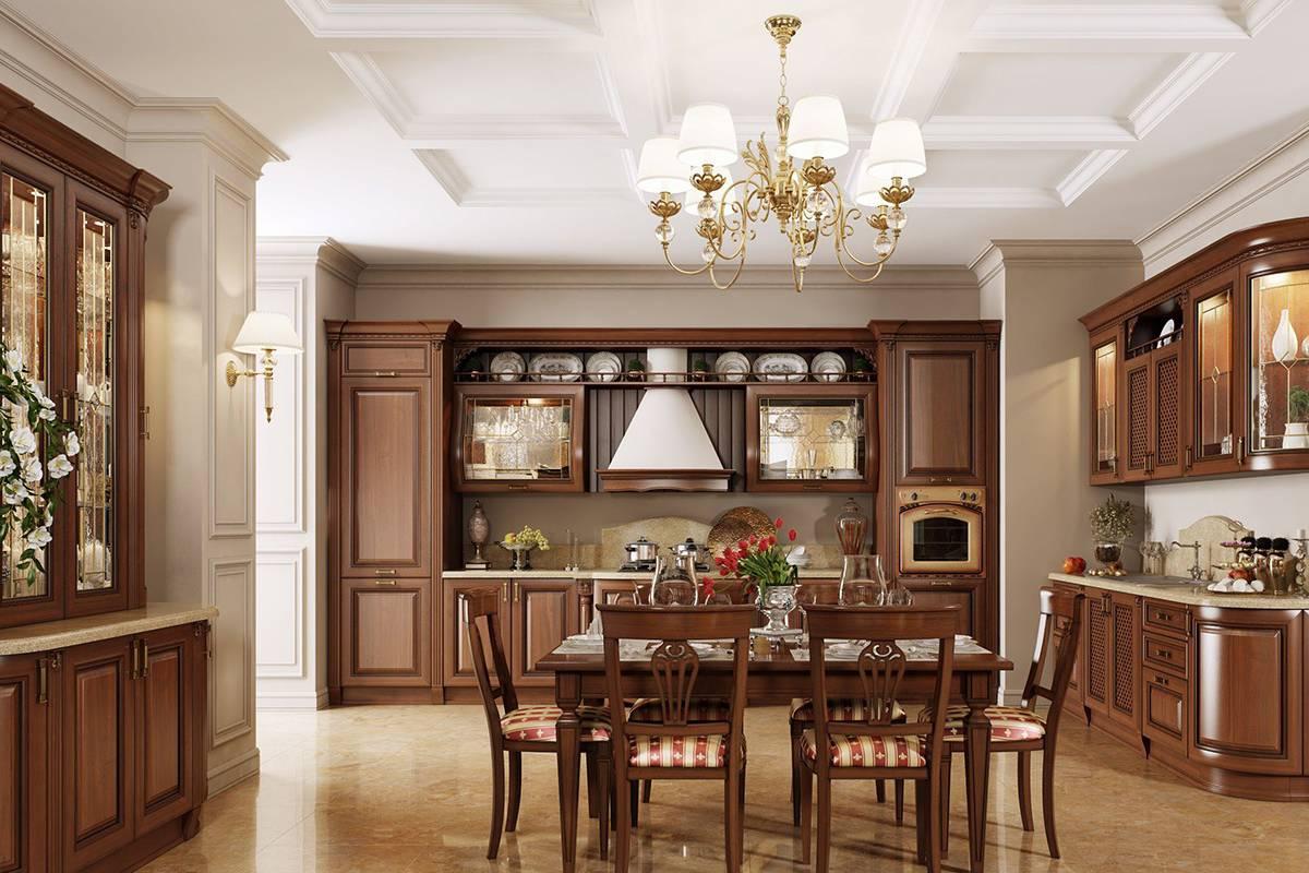Мебель цвета орех