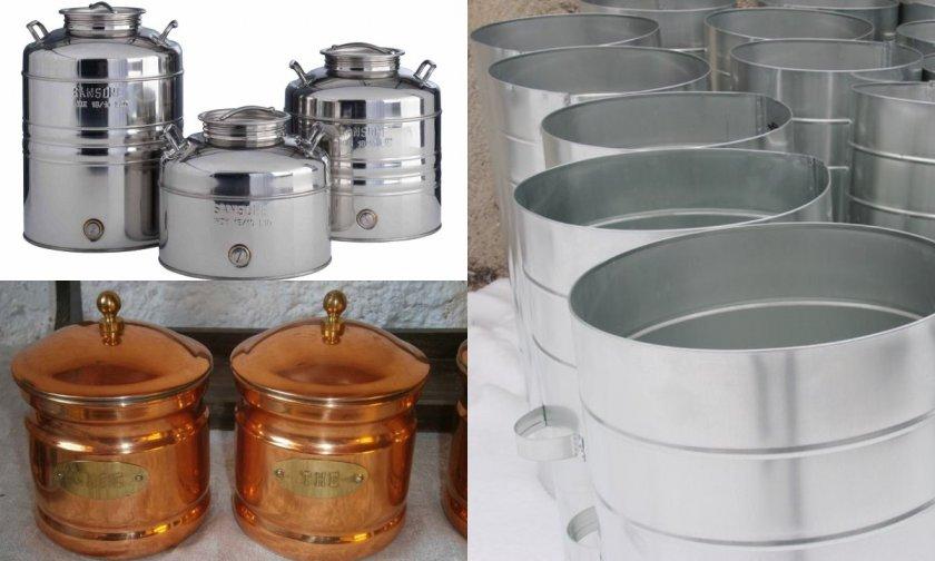 металлические емкости для меда