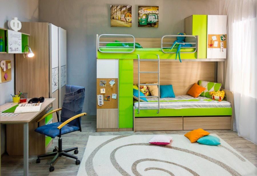 модульная мебель для двоих детей