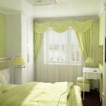 узкая комната зеленая