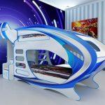 детская двухъярусная кровать-корабль