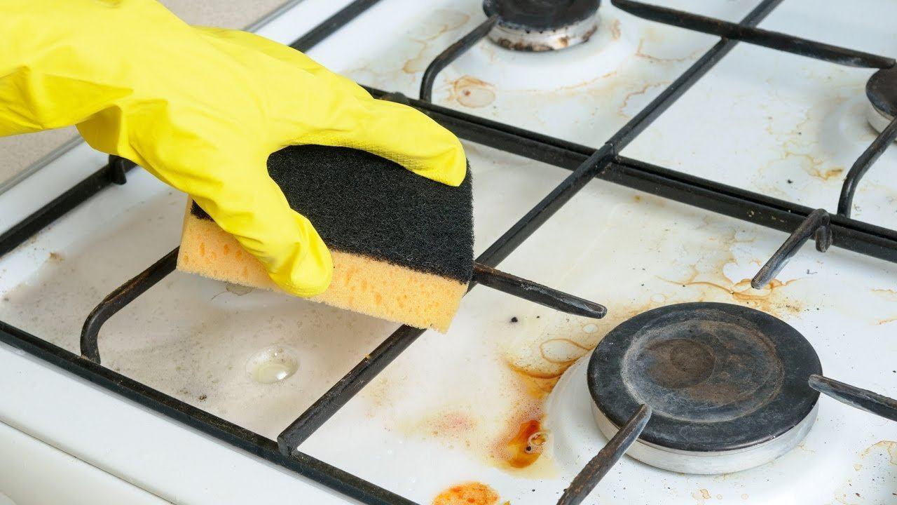 отмыть плиту от жира