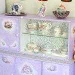 отреставрированный шкаф декор