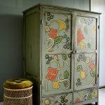 отреставрированный шкаф виды декора