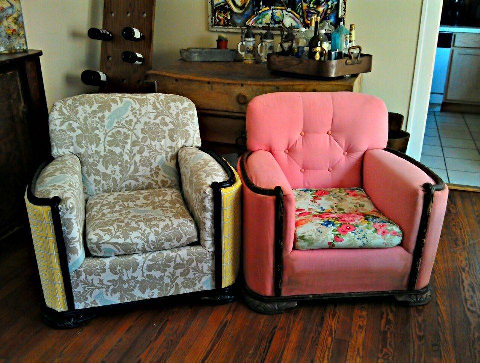 переделка старого кресла