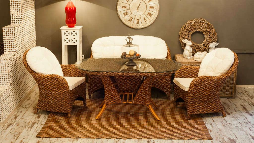 плетеная мебель для бани