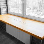 подоконник-столешница желтый деревянный