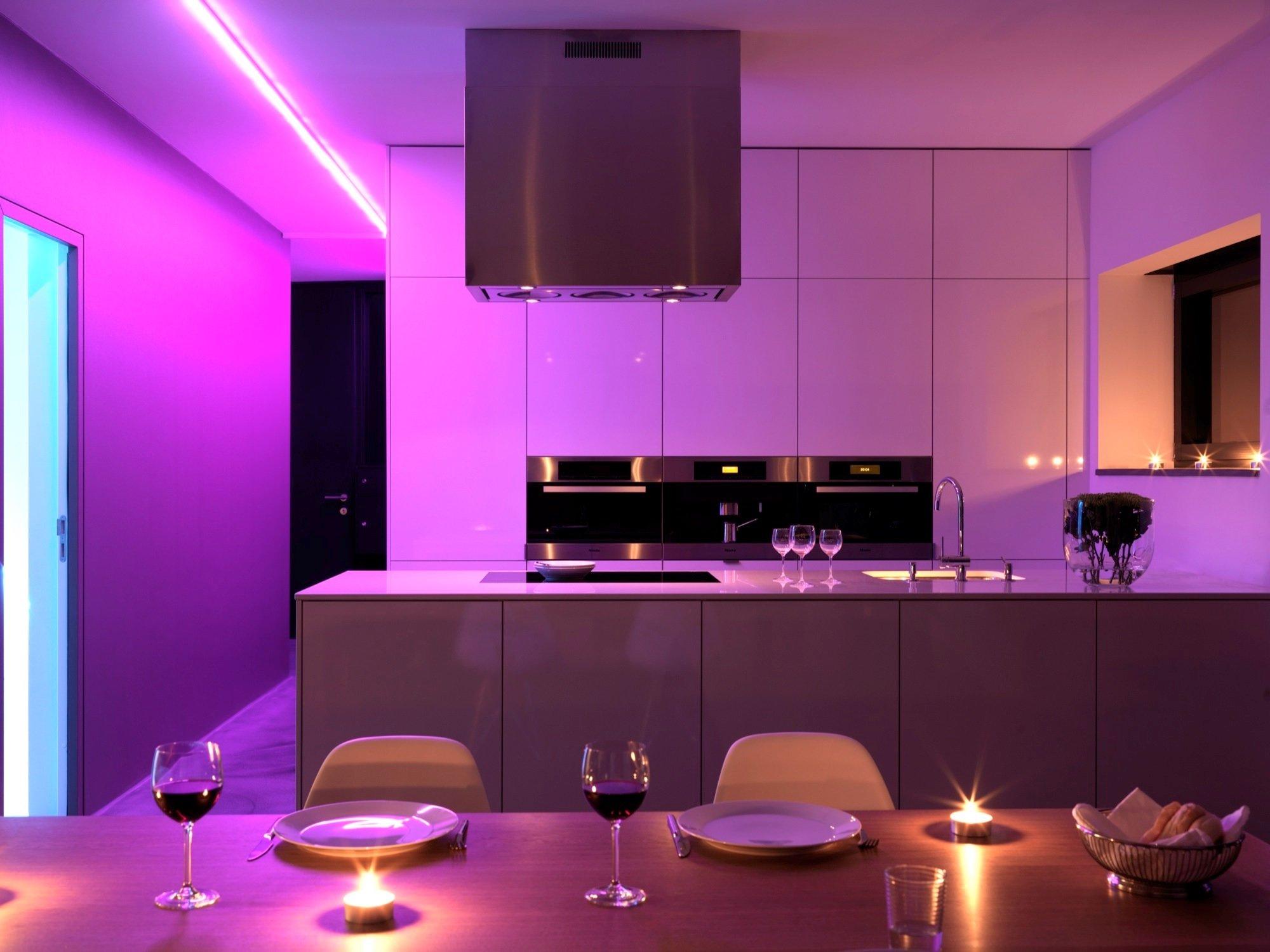 подсветка для кухни идеи фото