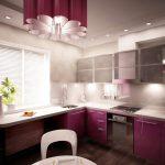 подсветка для гарнитура фиолетового