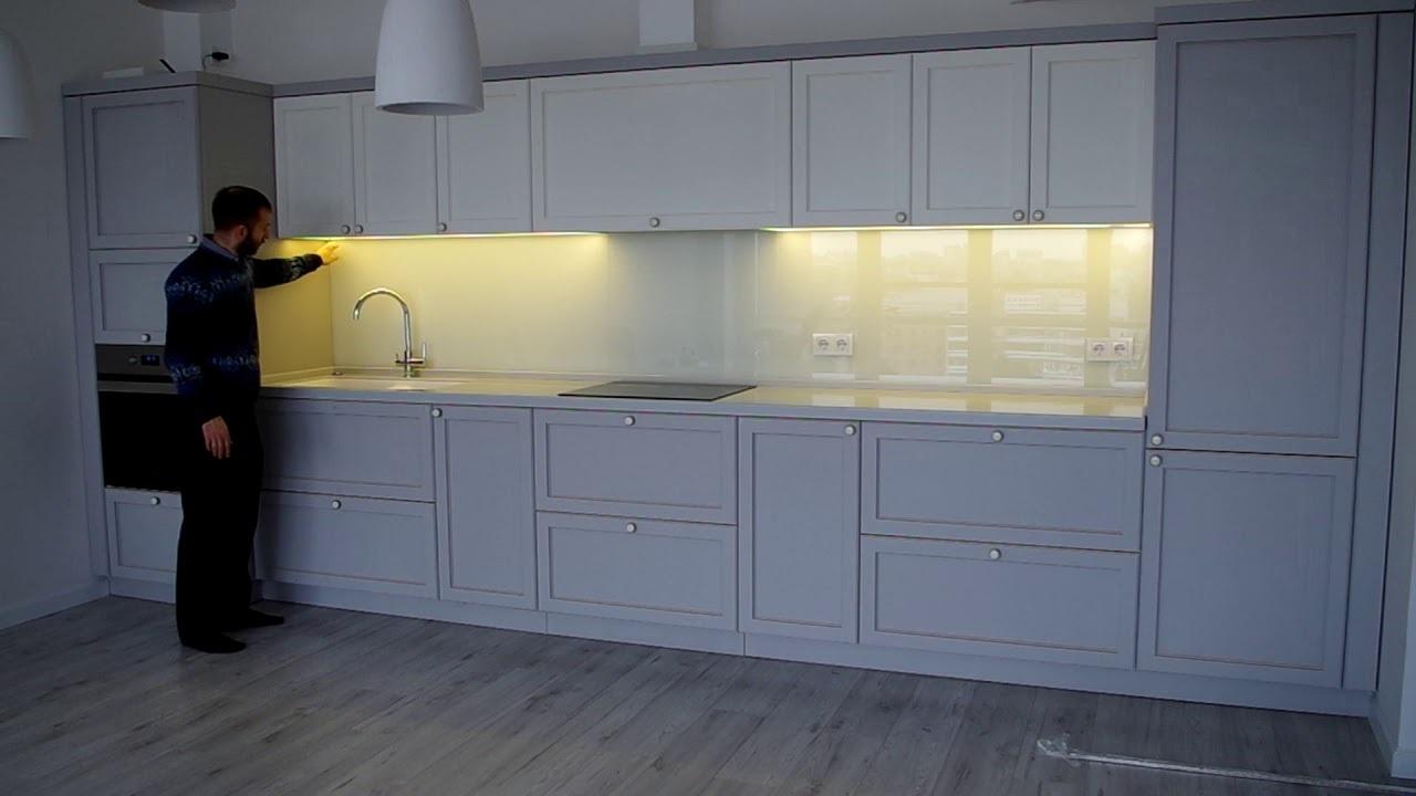 монтаж подсветки кухонного гарнитура