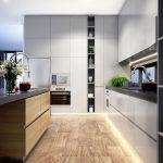подсветка для гарнитура большая кухня