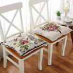 подушки для сидения на стуле фото интерьер