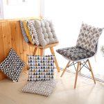 подушки для сидения на стуле идеи интерьер