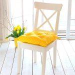 подушки для сидения на стуле оформление