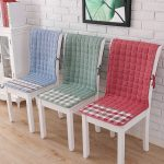 подушки для сидения на стуле оформление фото