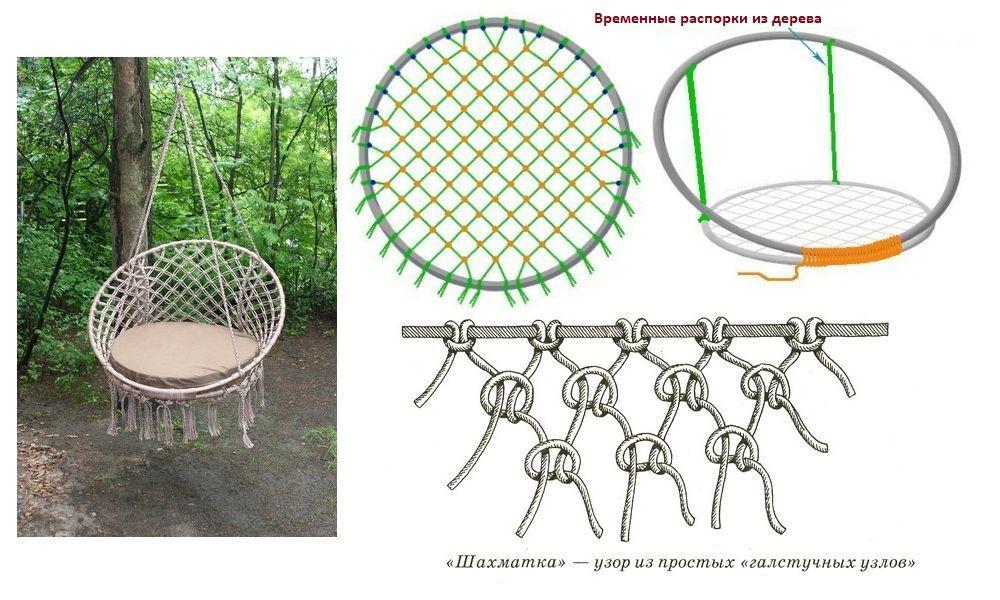 схема изготовления подвесного кресла