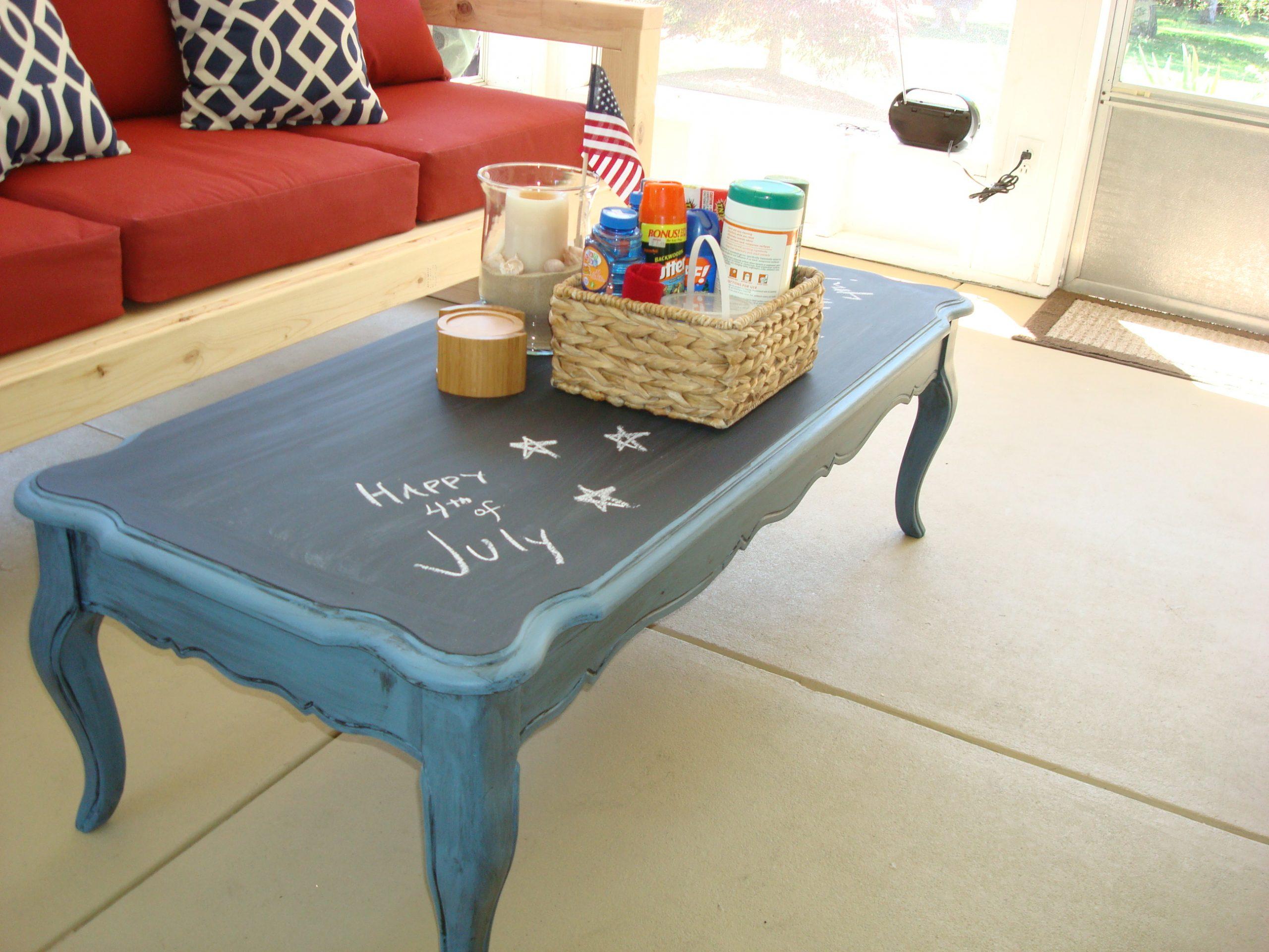 покраска старого стола