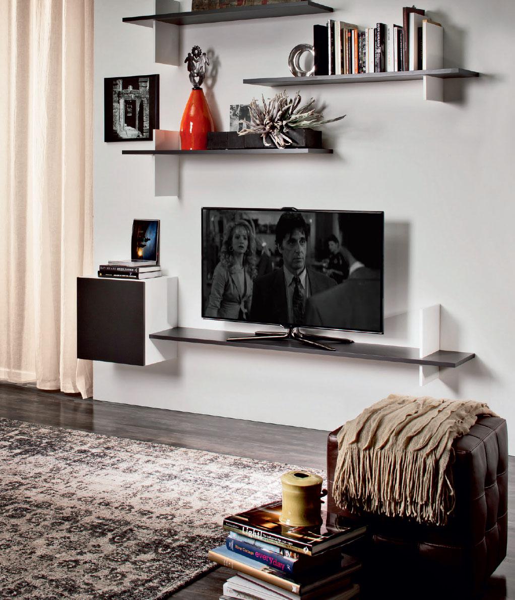 Полка для телевизора на стену