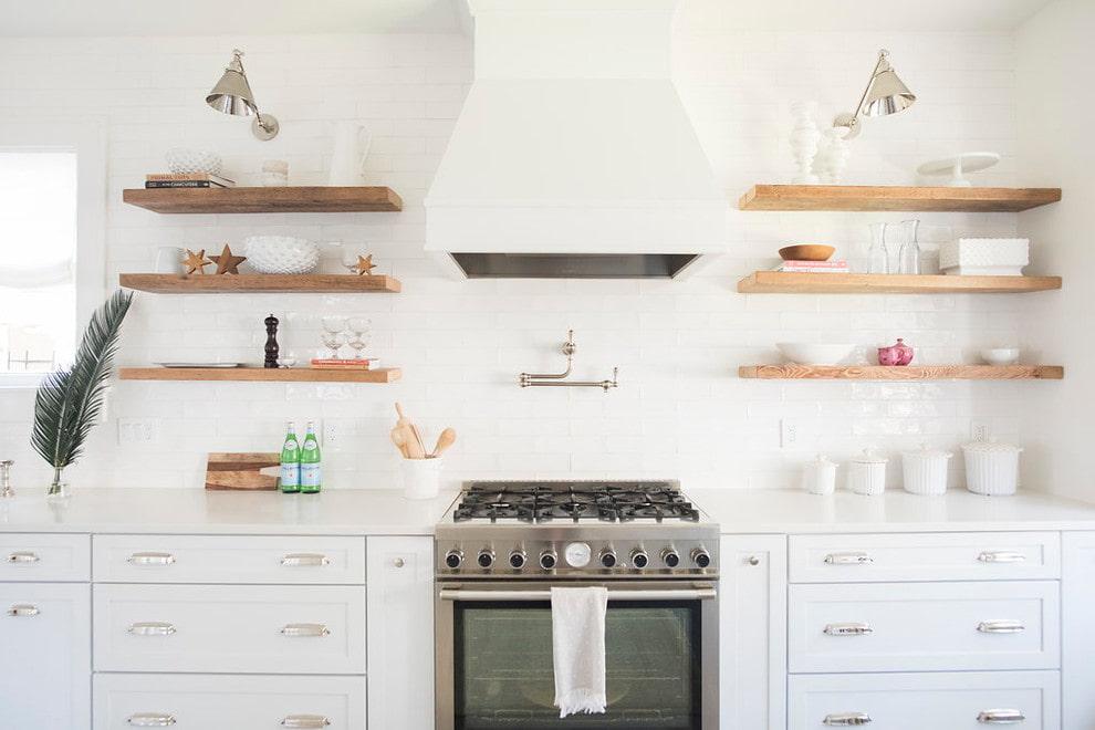 полки для кухни идеи фото