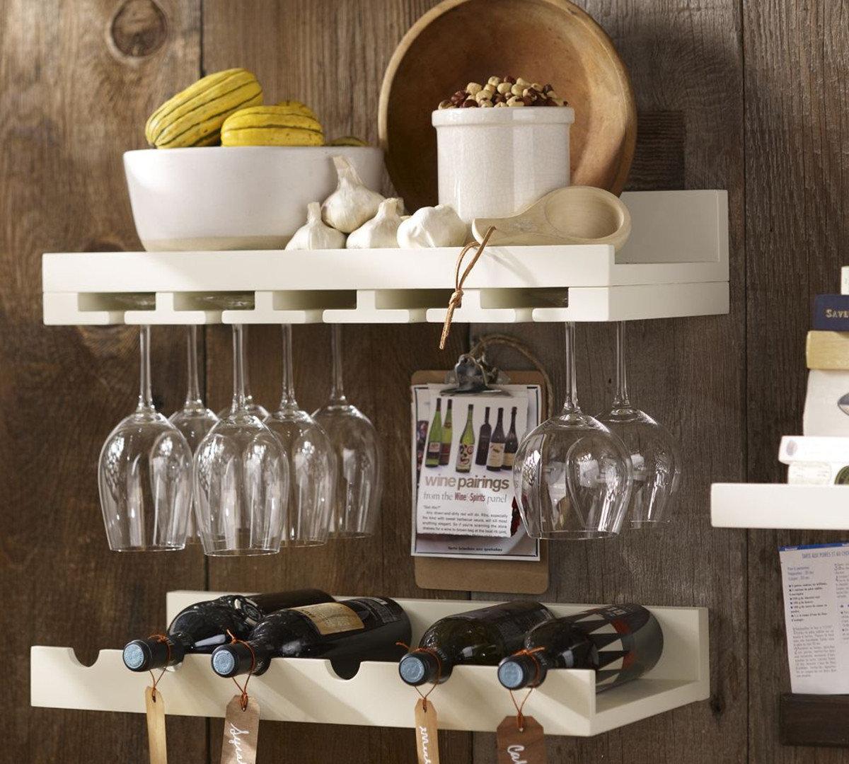 полки для кухни подвесные