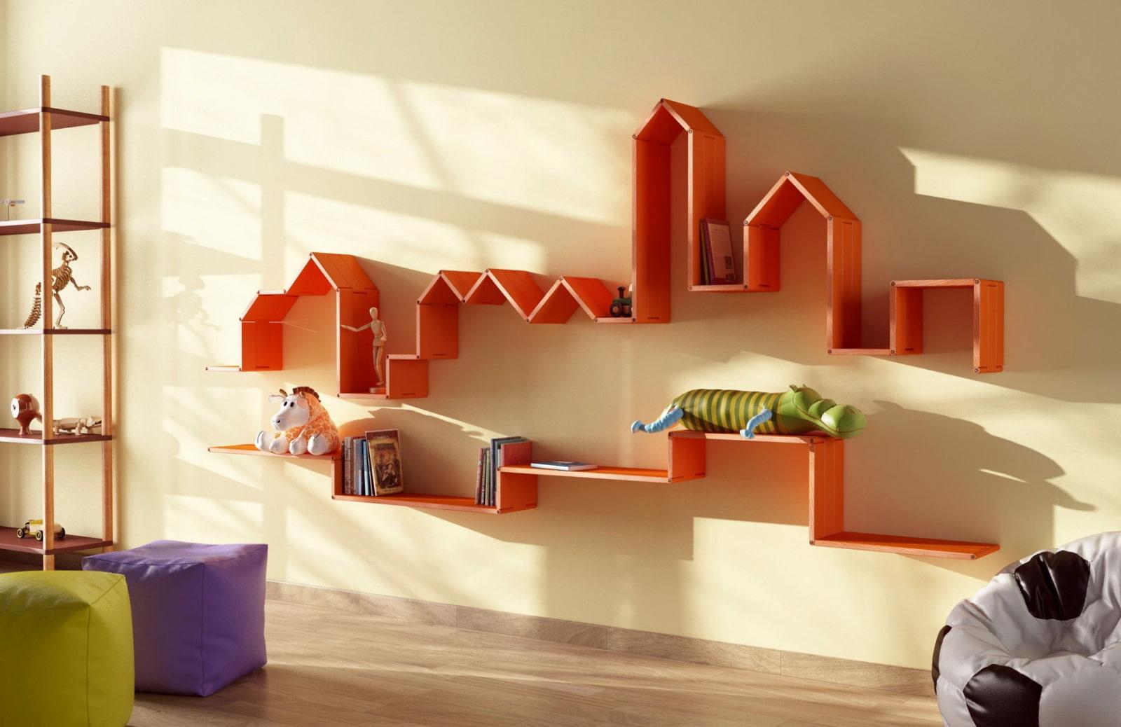 полки на стену в детской