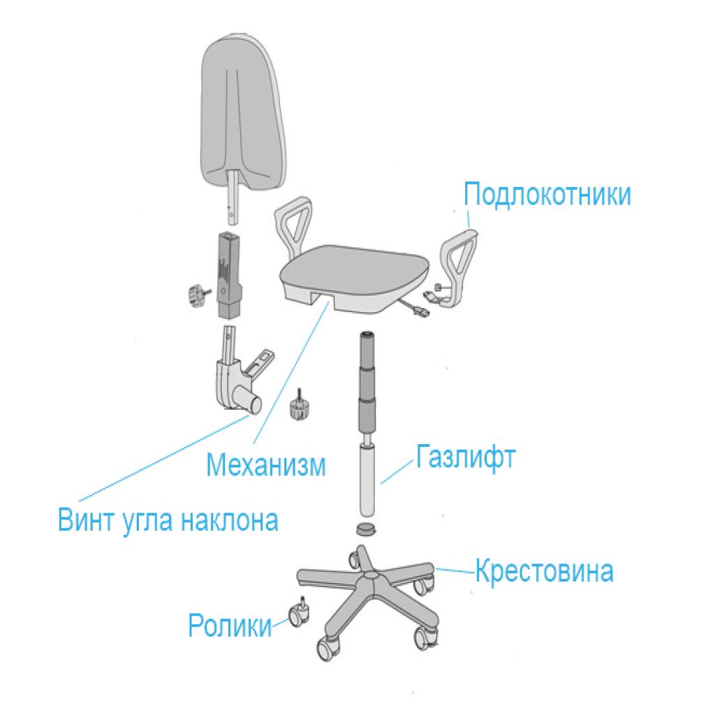 Разобрать офисное кресло