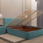 полутораспальная кровать с подъемным механизмом