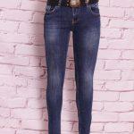 женские джинсы с потертостью