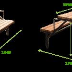 вариант чертежа стола-трансформера