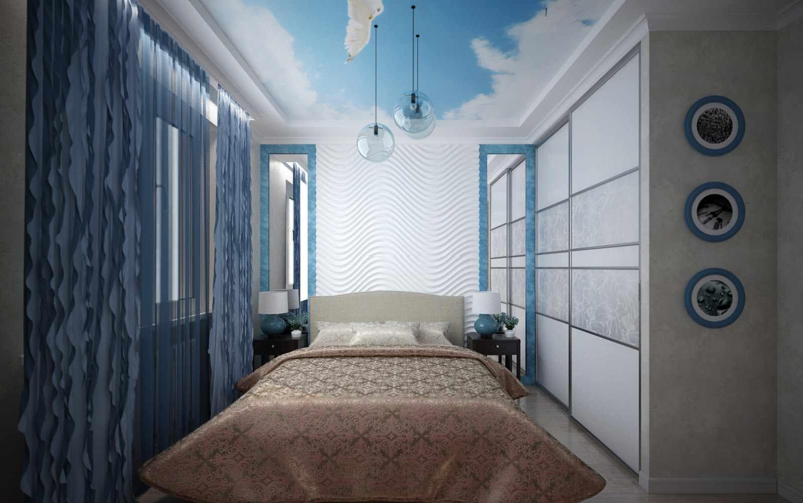 спальня 12 кв м необычный дизайн