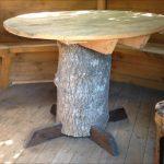 оригинальный стол в беседку