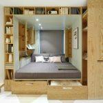 кровать со шкафами