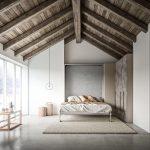 кровать с крышей