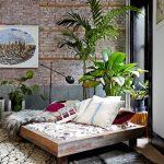 кровать с пальмой