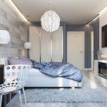 кровать с люстрой
